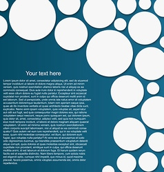 Abstract circle background with drop shadows vector image vector image