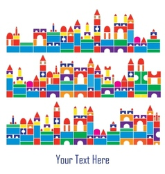 children color blocks vector image vector image