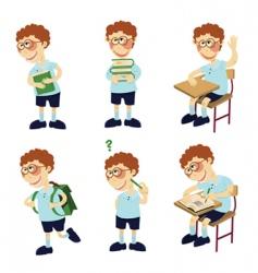 student boy vector image vector image
