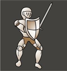 Vintage medieval warrior vector image vector image