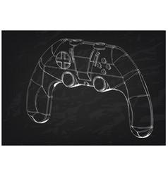 3d model of joystick on a black vector