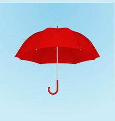 3d realistic render red blank umbrella vector
