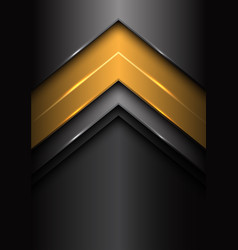 Abstract yellow dark gray metal arrow design vector
