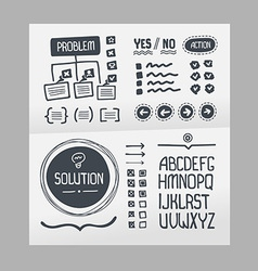Action plan - hand drawn elements template vector