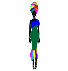 African woman dress afro womens ankara clothing vector