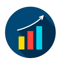 analytics growth circle icon vector image