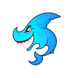 angry shark logo vector image