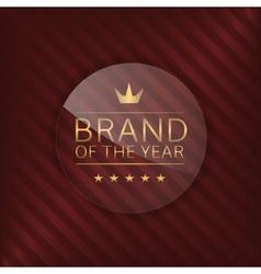 Brand glass label vector