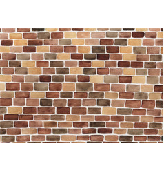 brick wall watercolor hand painting background vector image
