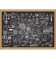 business plan on chalkboard vector image