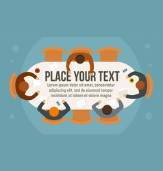 business planning concept banner flat style vector image