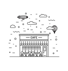 cafe outline vector image
