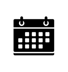 calendar icon date appointment vector image