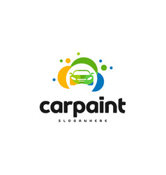 Car paint logo template design car wash logo vector