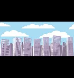 Cartoon cityscape vector