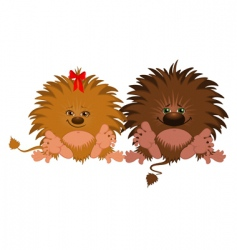 Cartoon lions vector