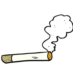 cartoon smoking cigarette vector image