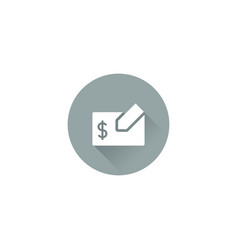 cheque icon vector image