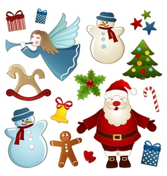 Christmas isolated elements vector image