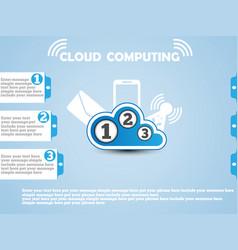 cloud computing website blue vector image