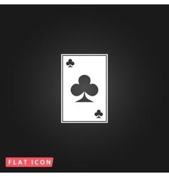 Clubs card icon vector