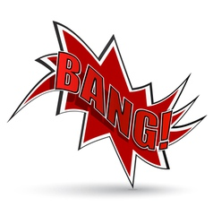 Comic book bang vector image