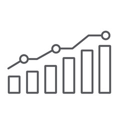 diagram thin line icon report and graph growth vector image