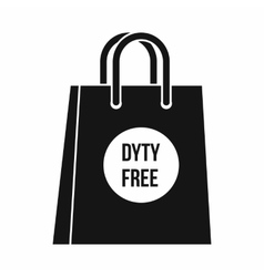 Duty free shopping bag icon simple style vector