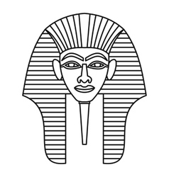 Egyptian pharaohs mask icon outline style vector