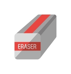 Eraser school supply isolated icon vector