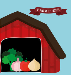 Farm fresh vegetables natural health vector