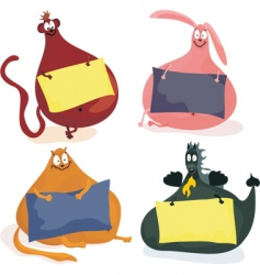 fat animals vector image