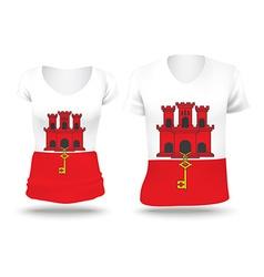 Flag shirt design of Gibraltar vector