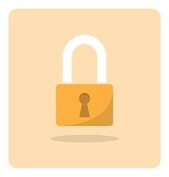 Flat icon lock vector