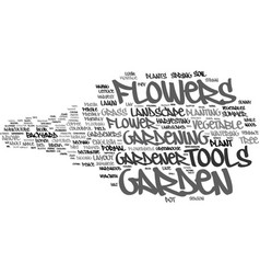 Garden word cloud concept vector