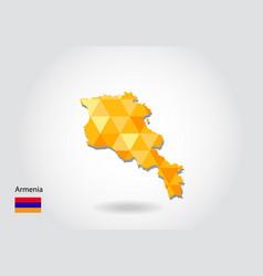 Geometric polygonal style map of armenia low vector