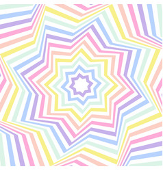 Geometric striped background pastel rainbow vector