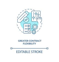 Greater contract flexibility concept icon vector