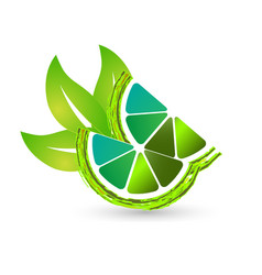 green lime lemon icon vector image