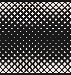 Halftone texture seamless pattern floral shapes vector