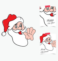 happy new year 2017 with santa clause in colorful vector image