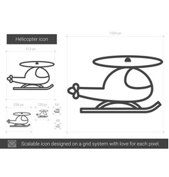 helicopter line icon vector image