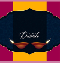 Hindu diwali sale greeting design with text space vector