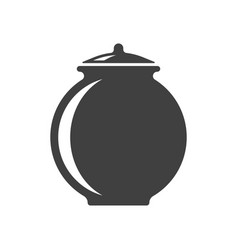 icon of a clay pot on white background vector image
