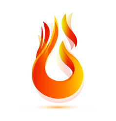 ignite flame burning icon vector image