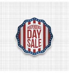 independence day badge with usa flag vector image