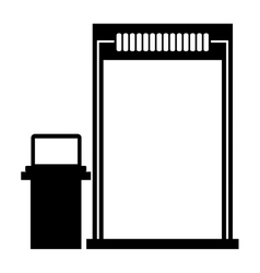Isolated airport security checkpoint design vector
