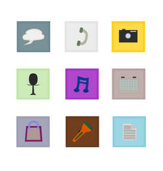 isolated website icon set vector image