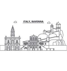 Italy ravenna line skyline vector