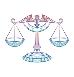 Justice scales zodiac libra entangle sign vector